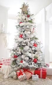 Hayneedle Flocked Christmas Trees by Flocked Christmas Tree Holiday Decorating Ideas Pinterest