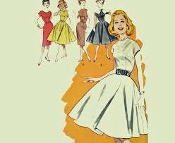Vintage 50s Teen Dress Pattern 1950s Juniors Butterick