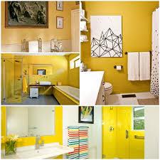 wandfarbe gelb eine sonnige stimmung im badezimmer haben