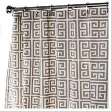 Grey Geometric Pattern Curtains by Fabric Shower Curtains In Our Fabric Or Yours