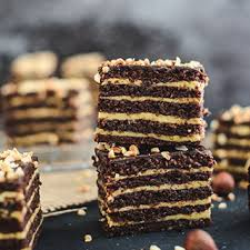 hazelnut layer cake bars