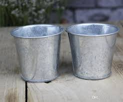 2018 Metal Cup Galvanized Succulent Pots Cheap Vintage Rustic Nostalgia Mini Garden Silver Cute Tin Planter Buckets From Szyang
