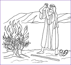Coloring Moses And The Burning Bush