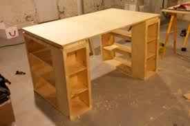 Diy Sewing Cabinet Plans by Ana White My Wife U0027s New Craft Table Diy Projects