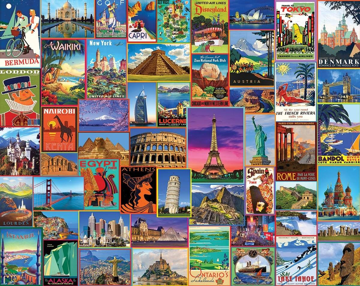 White Mountain Best Places in The World Puzzles - 1000pcs
