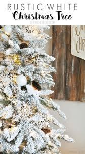 Hayneedle Flocked Christmas Trees by Flocked White Christmas Tree Cherished Bliss