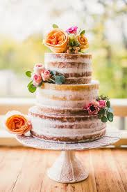Rustic Naked Wedding Cake For Autumn 2015