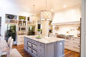 island drum lights kitchen farmhouse with kitchen island handle
