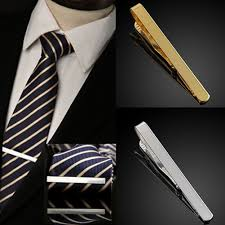 men metal necktie tie bar clasp clip clamp simple formal dress