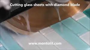 cutting glass tiles glass sheets and mosaic with blade