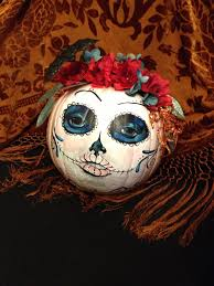 Mackenzie Childs Painted Pumpkins by Day Of The Dead Painted Pumpkin My Art Pinterest Pumpkin