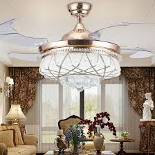 Crystal Chandelier Ceiling Fan Combo For The Beauty Of Infinite Home Incredible House Decor Dining Room