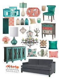 Coral Color Interior Design by Simply Contemporary In Gray Teal U0026 Coral Teal Coral Coral And Teal