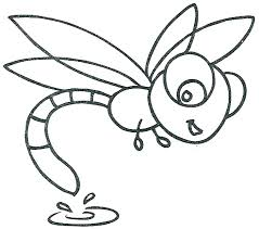 Dragonfly Cute Coloring Page Printable Download Free