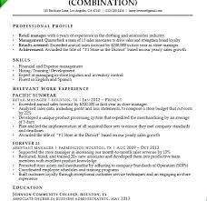 Resume For Retail Manager Position Example Assistant Sample Sales Associate