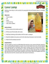 Homemade Lava Lamp Science Project Worksheet
