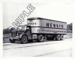 HENNIS FREIGHT LINES, Winston-Salem, NC MACK LF & FRUEHAUF 8x10 B&W ...