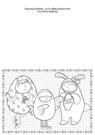Easter Dressing Up Colouring Card