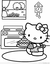 20 Hello Kitty Coloring Pages