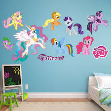 Fathead Baby Wall Decor by Amazon Com Fathead My Little Pony Collection Vinyl Decals Home