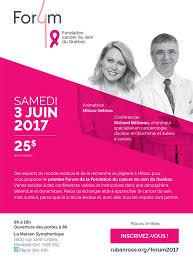 forum de la fondation du cancer du sein du québec richard