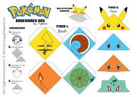 Pokemon Bookmarks Set DOWNLOAD By Yujilono