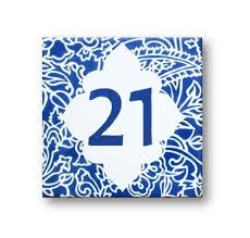 15 best pottery house numbers images on house numbers