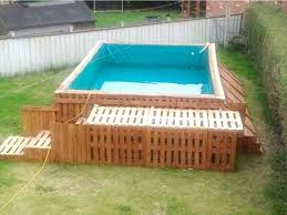 Pallet Outdoor Swimming Pool Deck Ideas Plans