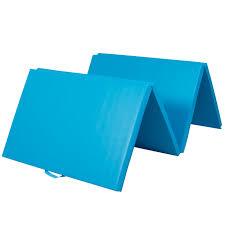 4 x8 x2 gymnastics gym folding exercise aerobics mats blue