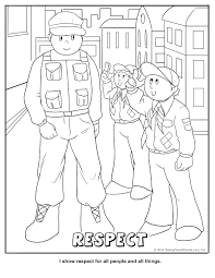 Printable Respect Coloring Page At Pages To Print Yourself Full Size