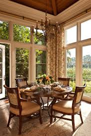 Large Window Curtains Dining Room Traditional With Area Rug Breakfast Nook Image By Douglas Design Studio