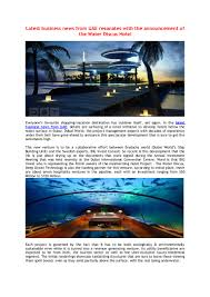 100 Water Discus Hotel In Dubai Latest Business News From UAE Resonates With The