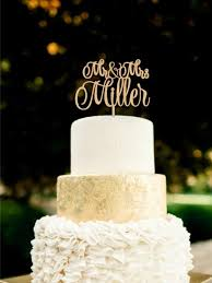 Wedding Cake Topper Mr Mrs Last Name Wood Rustic 2591412