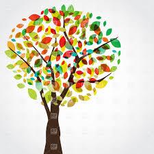 Stylish motley autumn tree Royalty Free Vector Clip Art