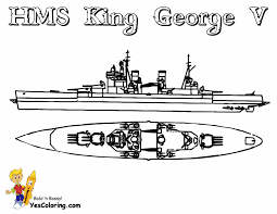 HMS King George V Ship Coloring Picture At YesColoring