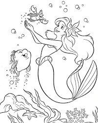 Colouring Pages Coloring Princess Little Mermaid For Kids Free Printable Anime Mermaids Mako Melody Large