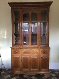 wood and glass china display cabinet ebay