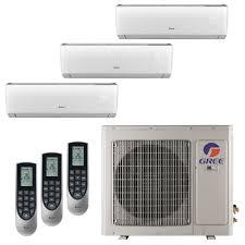 Mini Split Ceiling Cassette Air Conditioner by Gree Multi 21 Zone 24 000 Btu 2 Ton Ductless Mini Split Air