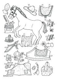 Paper Doll Cutouts Coloring Page Pages Printable Pony