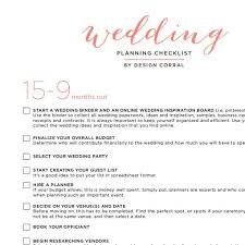 Wedding Checklist Printable PDF