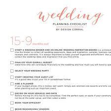 Wedding Checklist Printable PDF