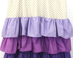 Purple Ruffle Blackout Curtains by Purple Curtain Etsy