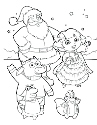 Explorer Coloring Pages Kids Free Dora Online And Friends Nick Jr Printable Full Size