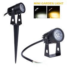 20X MINI Outdoor Lawn Light 12V LED Garden Lamp 3W IP65 Waterproof