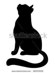 cat silhouette cat silhouette stock images royalty free images vectors