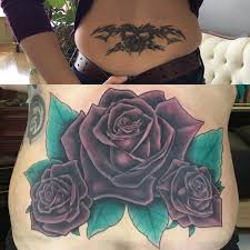 Color Rose Cover Up On Lower Back By Edward Lott TattooNOW
