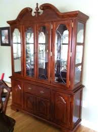 Dining Hutch Deeper Cabinets In Center Buffet For Sale