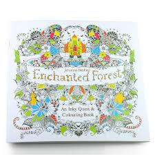 100PCS Magic Enchanted Forest Secret Garden Coloring Book For Adults Children Relieve Stress Adult Colouring Books