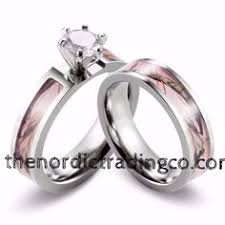 Realtree AP Pink Camo Wedding Ring Set
