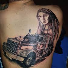 100 Big Truck Tattoos Wolverinejames American Truck With Holly Mary Still In